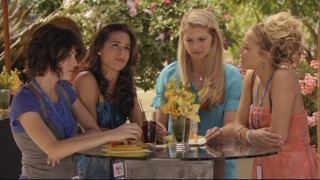 Emily (Chelsea Hobbs), Kaylie (Josie Loren), Payson (Ayla Kell), and Lauren (Cassie Scerbo) all have a lot on their minds and need to sort it all out before their big competition.