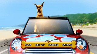 Marmaduke pops his head out the sunroof in the DVD's main menu. Having already voiced a red car, this time Owen Wilson takes the dog.