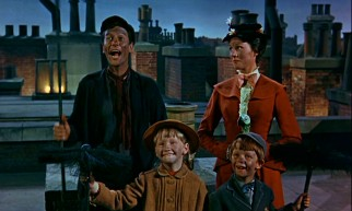 The Banks children and their fun adult guardians don't mind getting sooty for some musical rooftop antics.