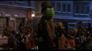 "Bob Cratchit (Kermit the Frog) and Scrooge's other workers take pleasure that there's only ""One More Sleep 'Til Christmas."""