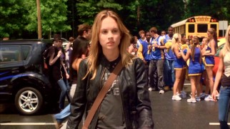 North Shore High's new senior Jo Mitchell (Meaghan Martin) is a tough girl, or so we're told.