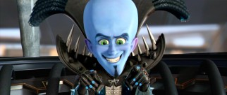 A big believer in spectacle, alien supervillain Megamind (Will Ferrell) makes a grand entrance to the sounds of AC/DC.