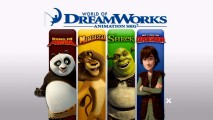 Under the guise of bonus features, DreamWorks promotes four of its signature franchises with this World of DreamWorks Animation SKG section.