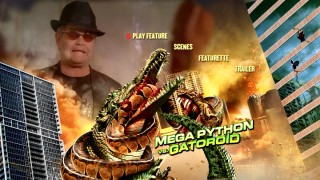 Micky Dolenz briefly assumes a presence bigger than both Mega Python and Gatoroid on the DVD's ethereal main menu.