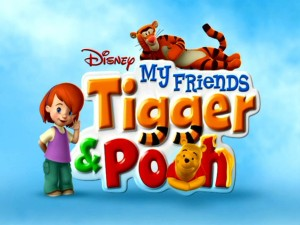 "Presumably the ""My"", Darby is joined by the other title characters next to the My Friends Tigger & Pooh logo."