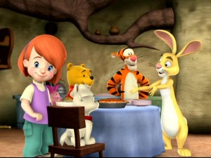 "As Rabbit serves his various rutabaga dishes in ""Tigger's Hiccup Pickup,"" Darby is the only one to notice us peeping Toms."