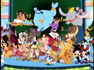 over seventy years worth of animated disney characters come together for closing song the - Mickey Magical Christmas