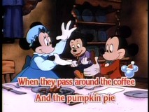 "While the Cratchits aren't able to afford such luxuries as coffee and pumpkin pie, the ""Sleigh Ride"" sing-along composed of ""Mickey's Christmas Carol"" scenes is still appreciated."
