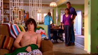 Teenaged eldest son Axl (Charlie McDermott) is not a big fan of wearing clothes at home or really anything.