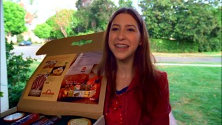 Sue (Eden Sher) takes rejection in stride selling meats and cheeses door-to-door in hopes of qualifying for a school trip to the state capital.