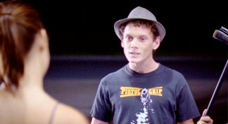 Fedora-wearing Dorian Spitz (Anton Yelchin) makes an impassioned case for marijuana usage before pitching Grace his business proposal.