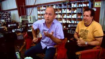 "Mike Judge is seen directing himself in the ""Extract"" DVD featurette ""Mike Judge's Secret Recipe."""