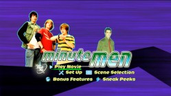 The three Minutemen and Steve McQueen's grandson are among those featured in the DVD's fast-moving animated menu.