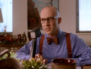"With a bow tie, suspenders, bald head, and the last name Tolkan, J.P. Manoux's vice principal character clearly pays homage to actor James Tolkan and his ""Back to the Future"" persona, Principal Strickland."