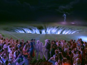 It's the end of the world... let's not cancel the dance, just summon those three time-traveling kids to the black hole in the football field. The science may be ludicrous, but the visual effects aren't bad... for Disney Channel, at least.