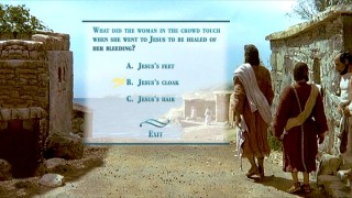"Only on DVD will you be able to play the ""Learning from Jesus"" Bible/film trivia challenge."