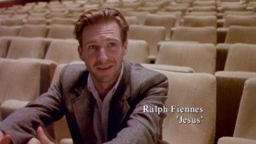 "Years before embodying evil as Lord Voldemort, Ralph Fiennes explored the other end of the spectrum voicing Jesus Christ. He talks about his attraction to the project in the documentary ""Small Miracles."""
