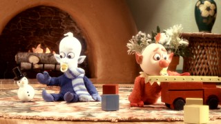 We get a brief look at Snow Miser and Heat Miser's infancy in this flashback clip from the North Pole's apparently endless Naughty and Nice visual records.