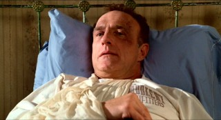 "In ""Misery"", James Caan plays Paul Sheldon, a romance novelist who is injured and stuck in a small, snowy Colorado town."
