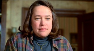 Kathy Bates won the Best Actress Academy Award for her performance as manic depressive Sheldon fan Annie Wikles.