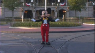 Mickey directs the Main Street crew prior to opening.