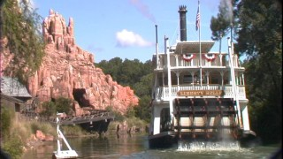 This shot of the Liberty Belle and Big Thunder Mountain is one of the disc's best.