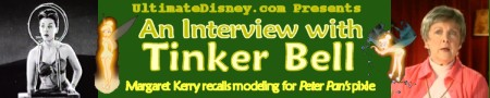 Click to read UD's exclusive interview with Margaret Kerry, the model for Disney's Tinker Bell!