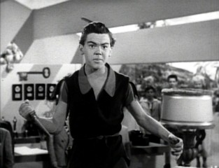 "Bobby Driscoll appeared in character as Peter Pan for a Walt Disney Christmas show, which is excerpted on the Platinum Edition DVD. Driscoll, who modeled for and voiced Peter Pan, had worked with both Walt Disney and Margaret Kerry prior to ""Peter Pan."""