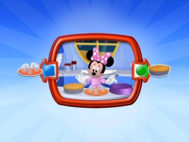 Will Minnie feed her guests glass cups or a pie? Select the Adventure Mode bonus feature on Minnie's Bow-tique and you'll get the chance to guess. (Mind you, this is no choose your own adventure deal... picking the more gruesome option won't bring it to life on the screen.)