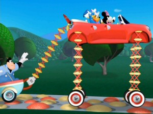 Years of antagonizing Mickey have earned Pete a ride in the one-wheeled teacup along an inexplicably bumpy road.
