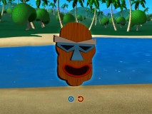 "Make your very own Tiki mask in the first of three ""Fun in the Sun"" activities. I made mine kind of California Raisiny."