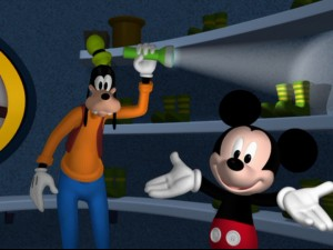Looking for Donald, but only finding Goofy and a flashlight...oh boy!