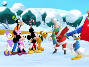 "Mrs. Claus needs the help of Mickey et. al. to rescue her husband, Santa Claus, from atop Misteltoe Mountain. No wonder they call it ""Mickey Saves Santa""!"
