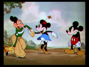 "In ""Mickey's Rival"", there's a contender for Minnie's affections."