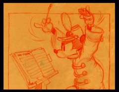 "A storyboard sketch from ""The Band Concert."""
