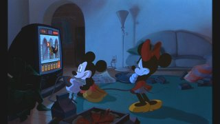 "Mickey is glued to his video game in ""The Runaway Brain"""