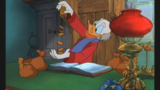 "Scrooge counts his money ""Mickey's Christmas Carol"""