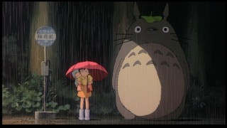 And you thought only crazies waited for the bus! Totoro proves you wrong in one of the most memorable shots from the film.