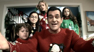 Phil (Ty Burrell) is the only Dunphy to stay enthusiastic during the family's Christmas Eve webcam talk with his father.