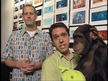 Director Pete Docter, Co-Director Lee Unkrich, and Pixar's oft-seen monkey convey the fun of working at Pixar.