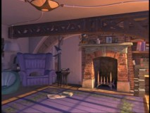 "One of several ""flyarounds"" on the DVD, Mike and Sulley's apartment can be explored in 3-D while they're at work!"