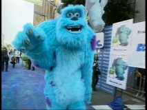 A giant Sulley struts his stuff at the El Capitan Theatre in Hollywood, home to the Monsters, Inc. World Premiere.