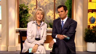 Colleen Peck (Diane Keaton) and Paul McVee (Ty Burrell) exchange unpleasant words after their mics are cut in this deleted Daybreak sign-off scene.