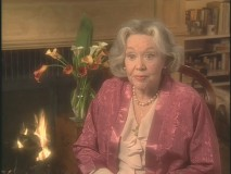 Glynis Johns (Mrs. Banks) appearing in the making-of documentary.