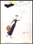 Costume sketch for Mary Poppins