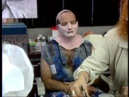 "The 3-4-hour daily process of transforming Robin Williams into Mrs. Doubtfire is discussed in ""Make-Up Application with Ve Neill."" Believe it or not, that hairy chest isn't Hollywood magic."