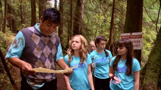 "San Francisco lawyer Eddie Serrano (George Lopez) is sure out of his environment reading a map and leading four girls around the woods in ""Mr. Troop Mom."""