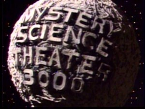 "The title logo for ""Mystery Science Theater 3000"" has an appropriate low-budget charm to it."