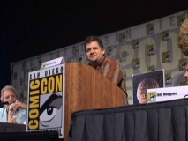 Patton Oswalt hosts an 11-member panel celebrating MST3K's 20th Anniversary at the 2008 Comic-Con in San Diego.