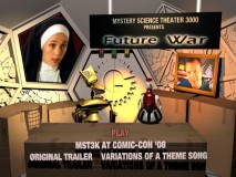 The Main Menu on Future War boasts the most number of options. In this part, it balances a shot of Mike with the movie's tough nun.